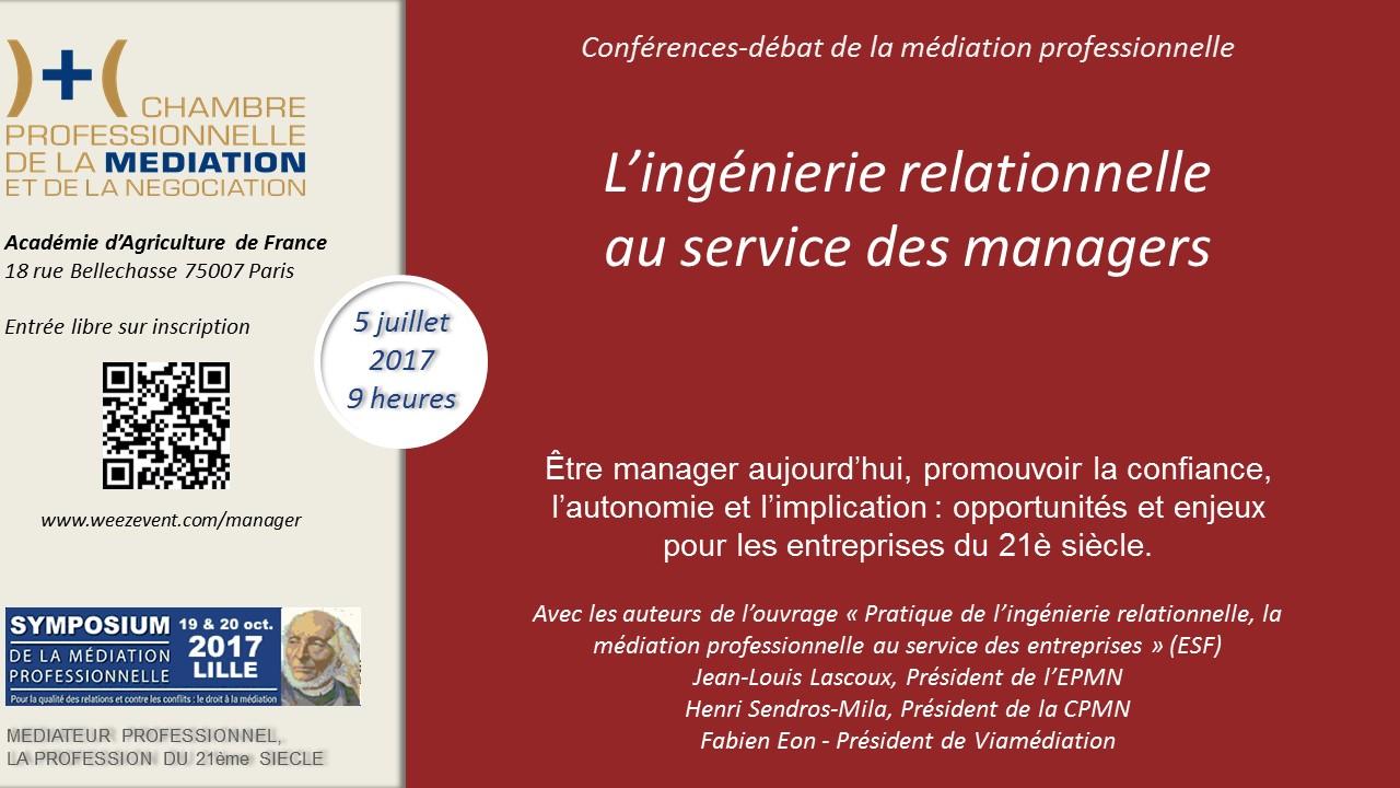 L ing nierie relationnelle au service des managers et - Chambre professionnelle de la mediation et de la negociation ...